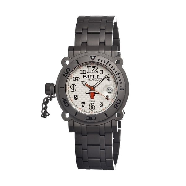 Bull Titanium Men's Longhorn White Titanium Grey Watch
