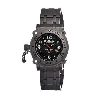Bull Titanium Men's Longhorn Black Titanium Grey Analog Watch