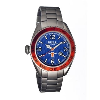 Bull Titanium Men's Hereford Blue Titanium Silver Analog Watch