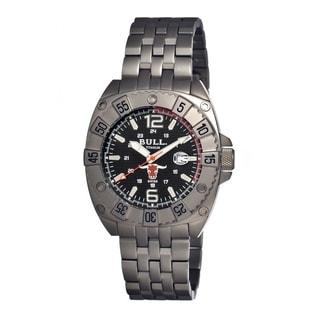 Bull Titanium Men's Robust Black Titanium Grey Analog Watch