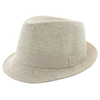 Faddism Men's Fashion Fedora Hat in Beige
