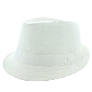 Faddism Men's Fashion Fedora Hat in White