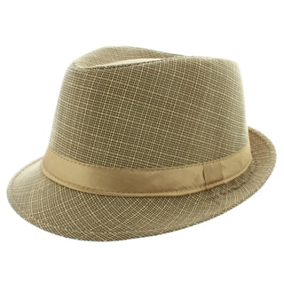 Faddism Men's Fashion Fedora Hat in Tan