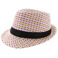 Faddism Women's Fashion Fedora Hat in Multicolor
