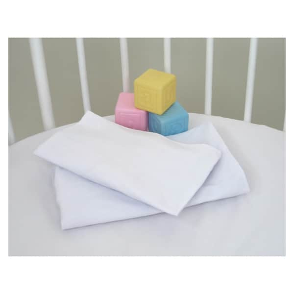 White Fitted Sheets for Badger Moses Basket (Set of 2)