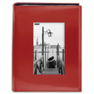 Pioneer Photo Albums 200-pocket Sewn Red Leatherette Frame Cover Album (2 Pack)