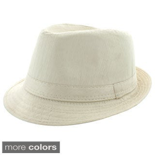 Faddism Men's Fashion Stripe Fedora Hat