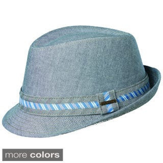 Oxford Men's Fedora with Strip Trim