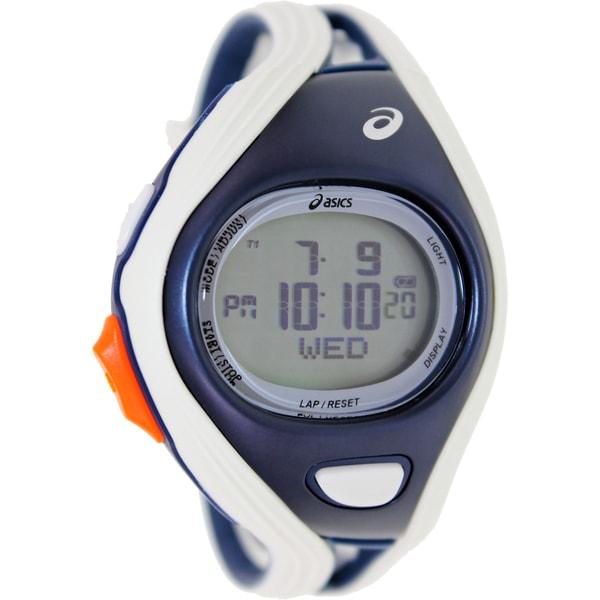 Asics Men's Challenge CQAR0303 Grey Polyurethane Quartz Watch with Digital Dial