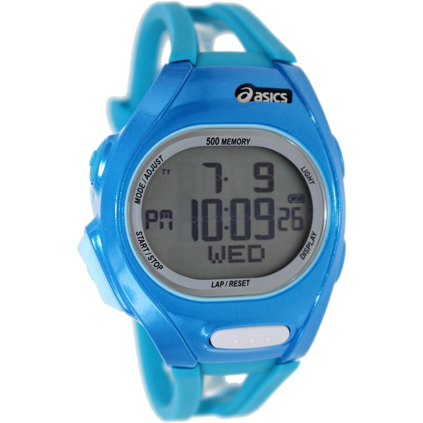 Asics Men's Race CQAR0204 Blue Polyurethane Quartz Watch with Digital Dial