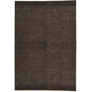 Herat Oriental Indo Hand-knotted Tibetan Dark Green/ Purple Wool Rug (8'5 x 12'1)