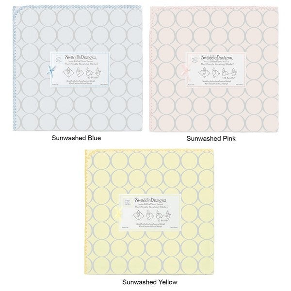 SwaddleDesigns Sterling Mod Circles Ultimate Receiving Blanket