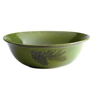 BonJour Dinnerware Sierra Pine Stoneware 10-inch Round Serving Bowl