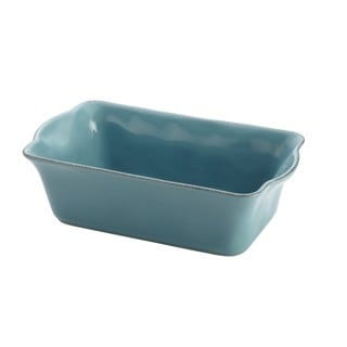 Rachael Ray Cucina Stoneware Agave Blue 9 x 5 Loaf Pan