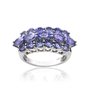 Glitzy Rocks Sterling Silver 2 3/4ct TGW Tanzanite Band Ring