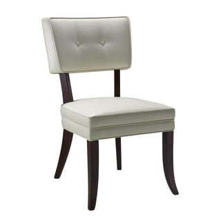 Sunpan Amelia Ivory Bonded Leather Dining Chairs (Set of 2)