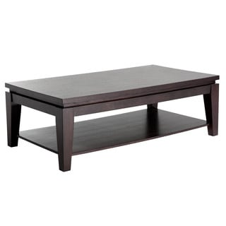 Sunpan Asia Rectangular Espresso Coffee Table with Shelf