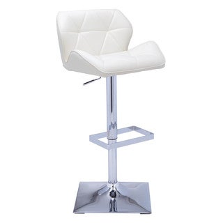 Sunpan Boulton Faux Leather Adjustable Barstool