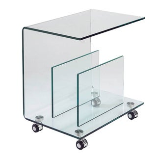 Sunpan Dopio Glass End Table