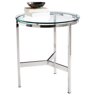 Sunpan Flato Polished Steel End Table