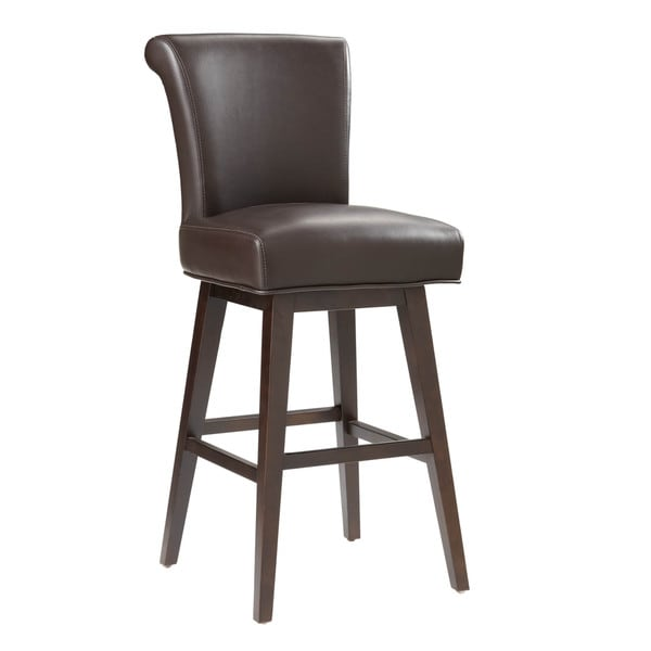 Sunpan 5west Hamlet Bonded Leather Swivel Bar Stool