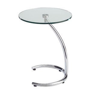 Sunpan Hastings Chrome End Table