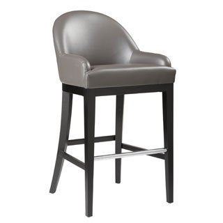 Sunpan Haven Grey Bonded Leather Barstool