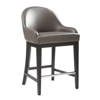 Sunpan Haven Grey Bonded Leather Counter Stool