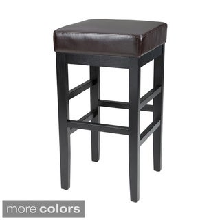 Sunpan Jacob Bonded Leather Bar Stool