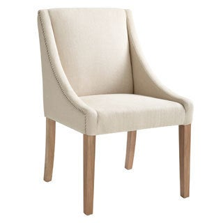 Sunpan Lucille Reclaimed Leg Linen Dining Chair