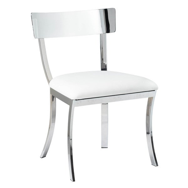 Sunpan 'Ikon' Maiden White Stainless Steel Dining Chair (Set of 2) (As Is Item)