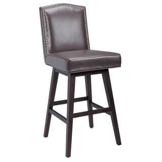Sunpan Maison Bonded Leather Swivel Bar Stool