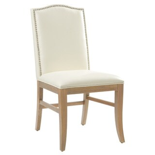 Sunpan Maison Ivory Bonded Leather Dining Chair (Set of 2)