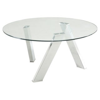 Sunpan Manhattan Round Chrome Coffee Table
