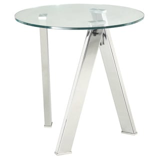 Sunpan Manhattan Round Chrome End Table