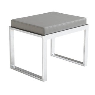 Sunpan Oliver Grey Faux Leather Modern Stool