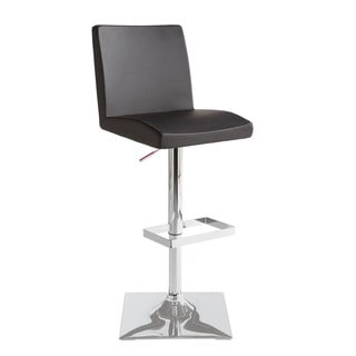 Sunpan Pacifico Faux Leather Adjustable Bar Stool