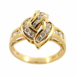 Kabella Luxe 14k Yellow Gold 3/4ct TDW Vintage Channel-set Diamond Ring (H-I, SI1-SI2)
