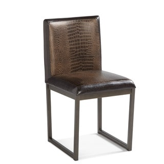 Sunpan Porto Faux Crocodile Leather Dining Chairs (Set of 2)