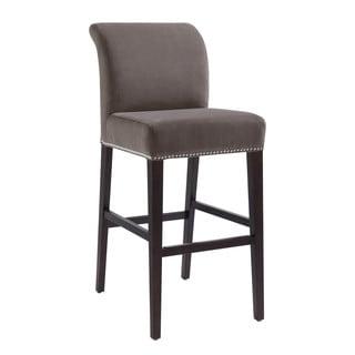 Portfolio Orion Basil Grey Linen Upholstered 29 Inch Bar