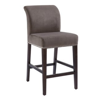 Sunpan Prado Grey Fabric Counter Stool