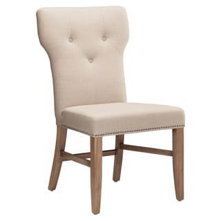 Sunpan Prague Fabric Reclaimed Leg Dining Chairs (Set of 2)