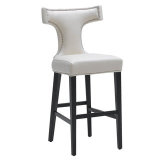 Sunpan Serafina Cream Bonded Leather Bar Stool