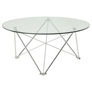 Sunpan Silvio Chrome Coffee Table