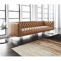 Sunpan 'Club' Viper Bonded Leather Sofa
