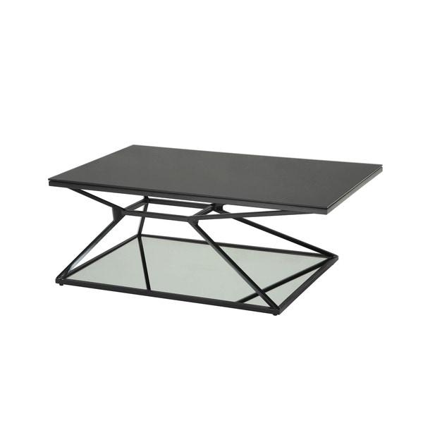 Sunpan Wedge Black Coffee Table