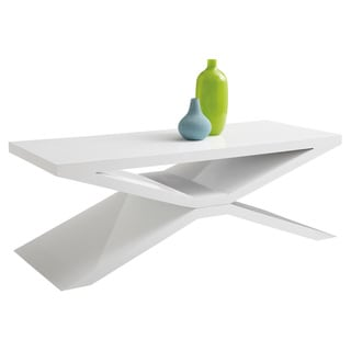 Sunpan Whitaker Glossy White Coffee Table