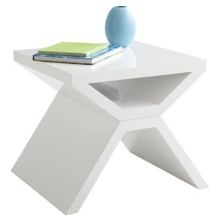 Sunpan Whitaker White End Table