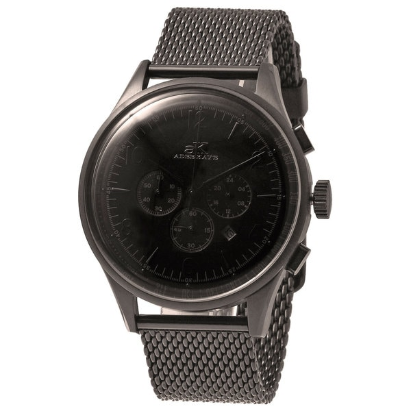 Adee Kaye Men's Mondo Black Chronograph Watch