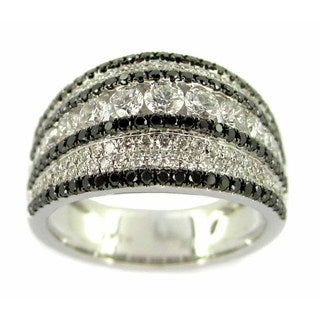 Kabella Luxe 18k White Gold 1 3/5ct TDW White and Black Diamond Ring (H-I, VS1-VS2)